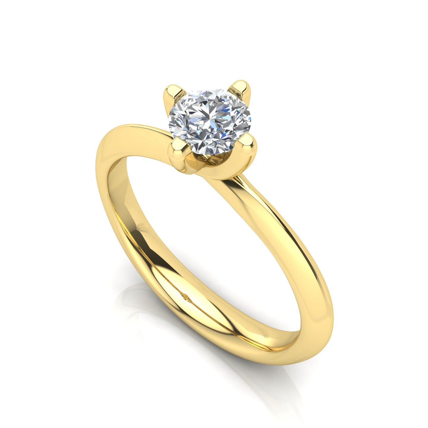 "Solitaire Ring ""Rose"""