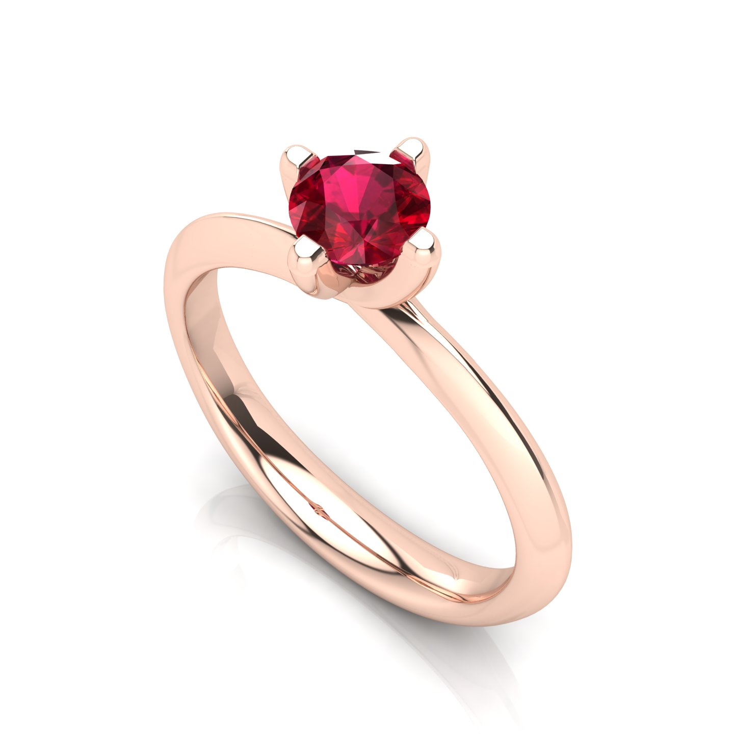 """Solitaire Ring """"Rose"""""""
