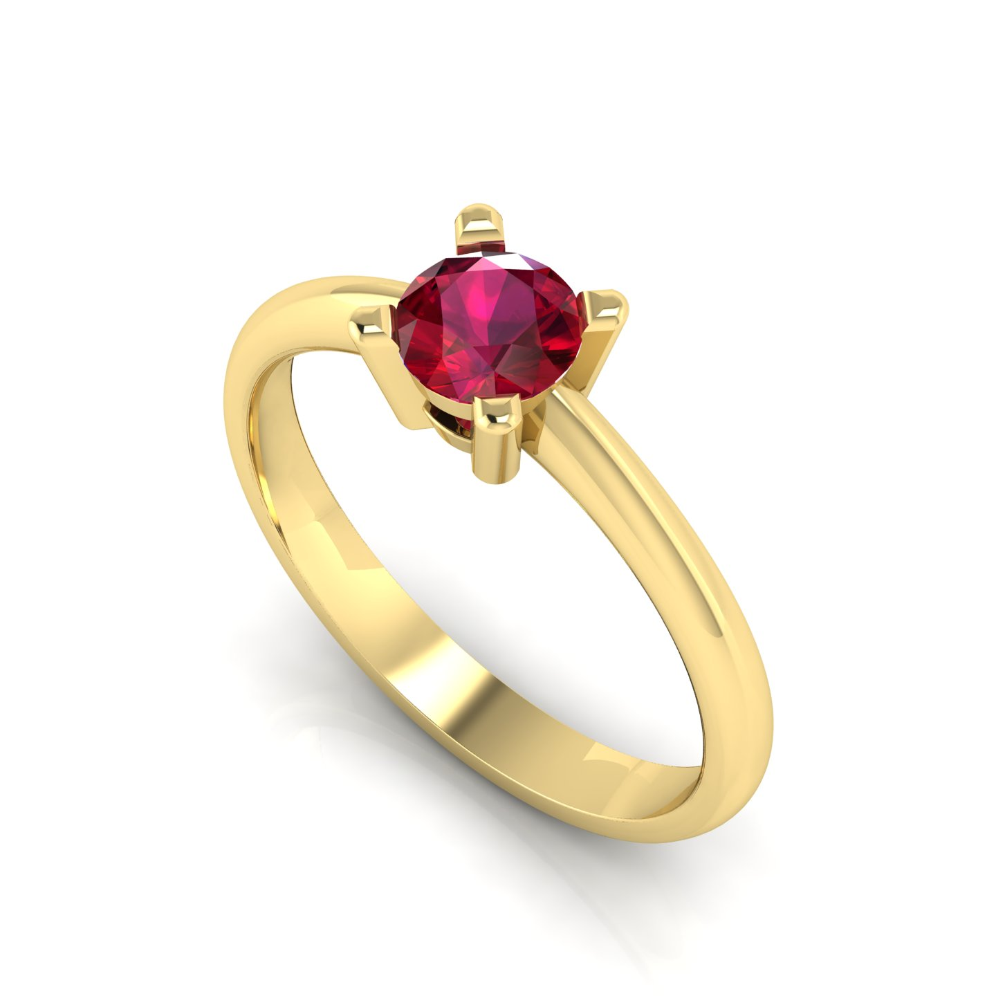 """Solitaire Ring """"Pansy"""""""