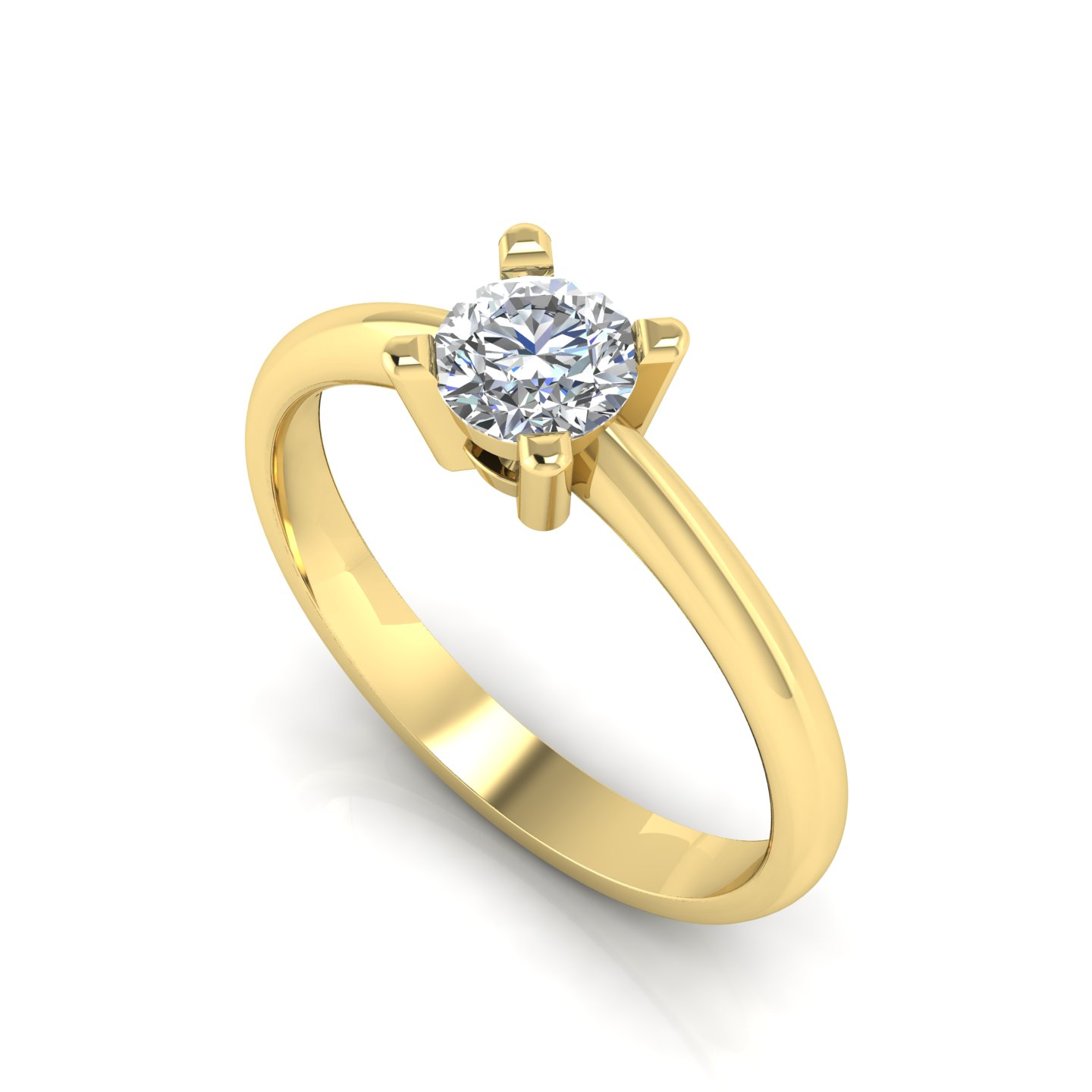 "Solitaire Ring ""Pansy"""
