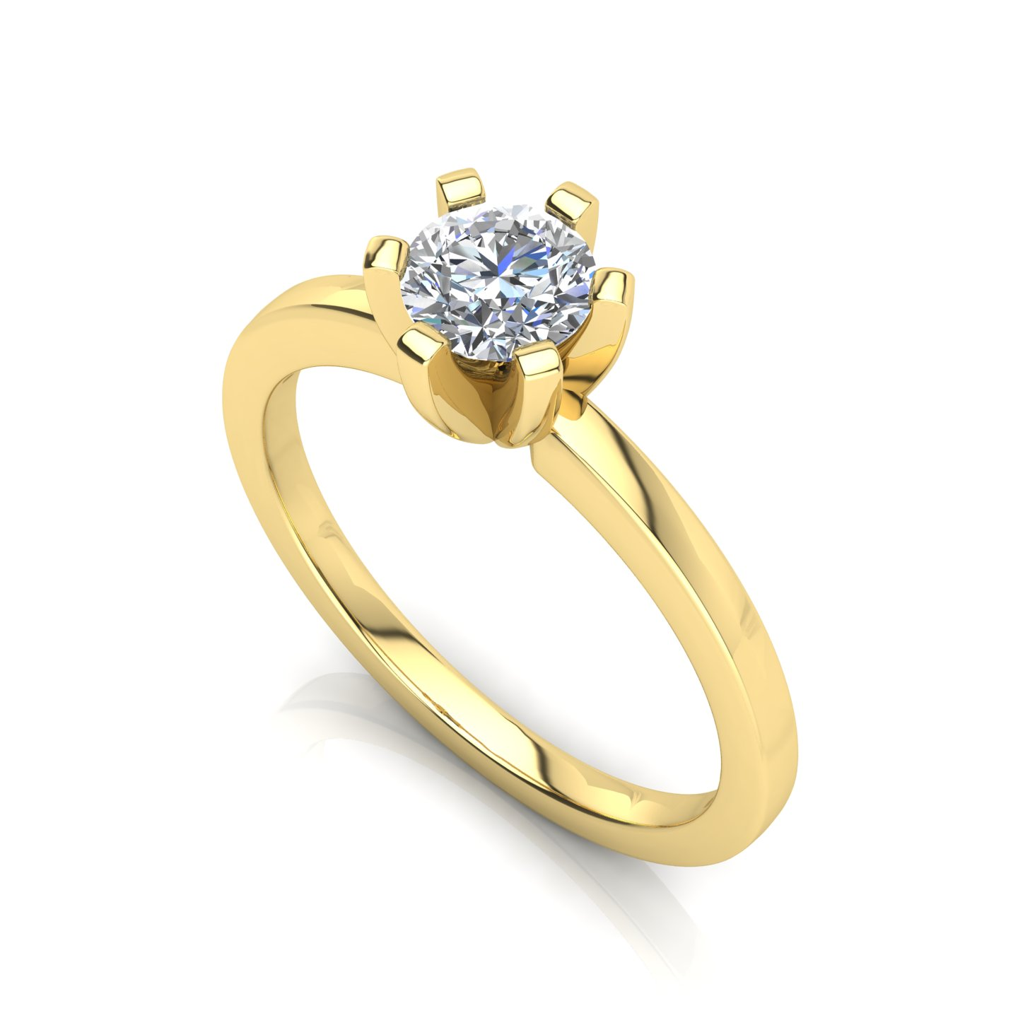 "Solitaire Ring ""Lily"""
