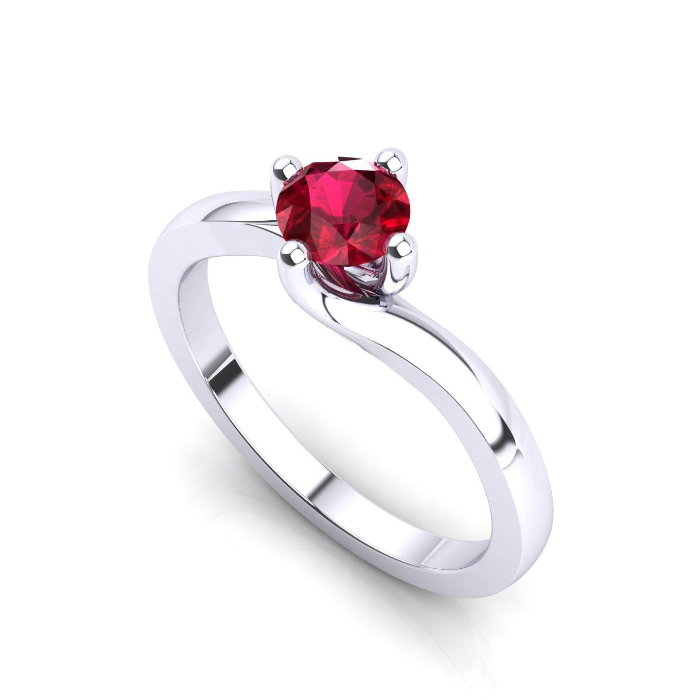 "Solitaire Ring ""Gardenia"""