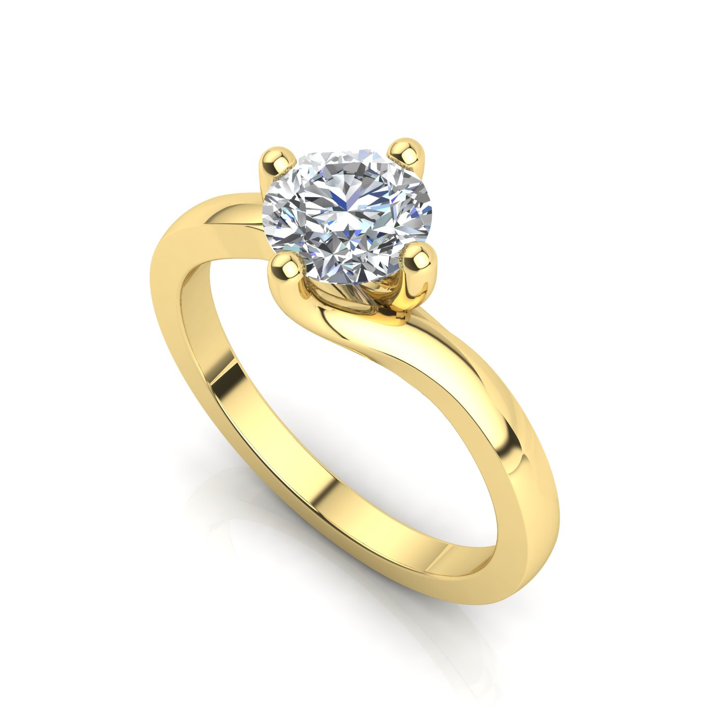 "Solitaire Ring ""Gardenia"""