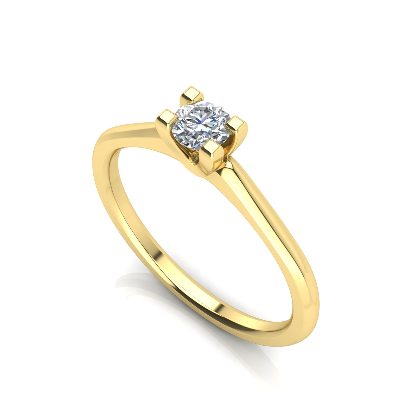 "Solitaire Ring ""Marigold"""