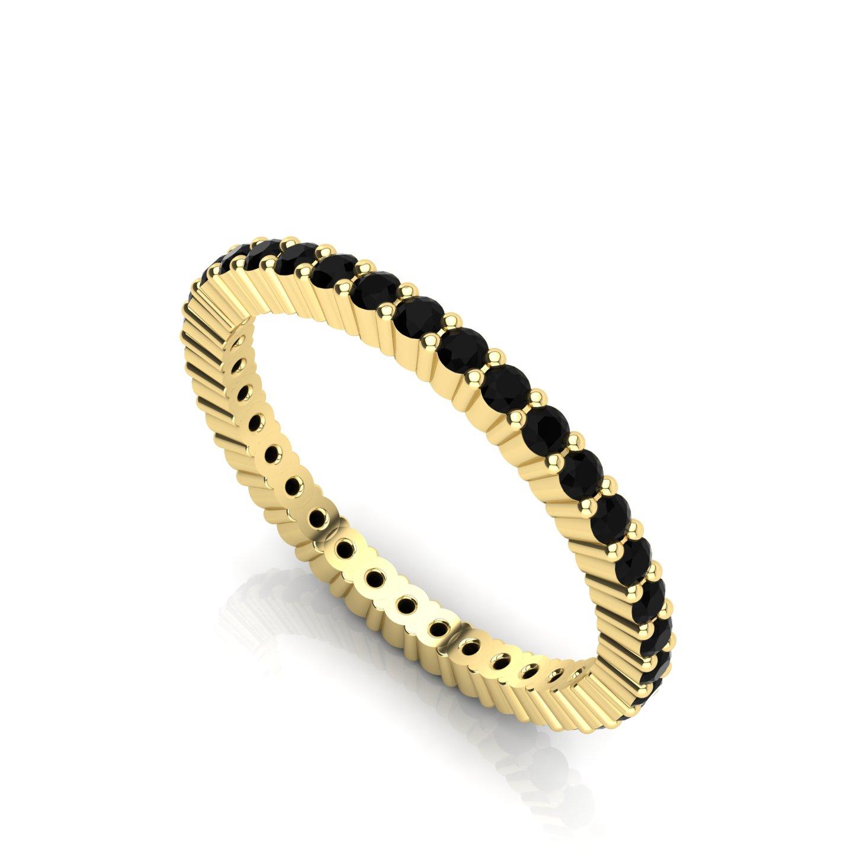 "Small Wedding Ring with Gemstone Settings ""Carnation"""