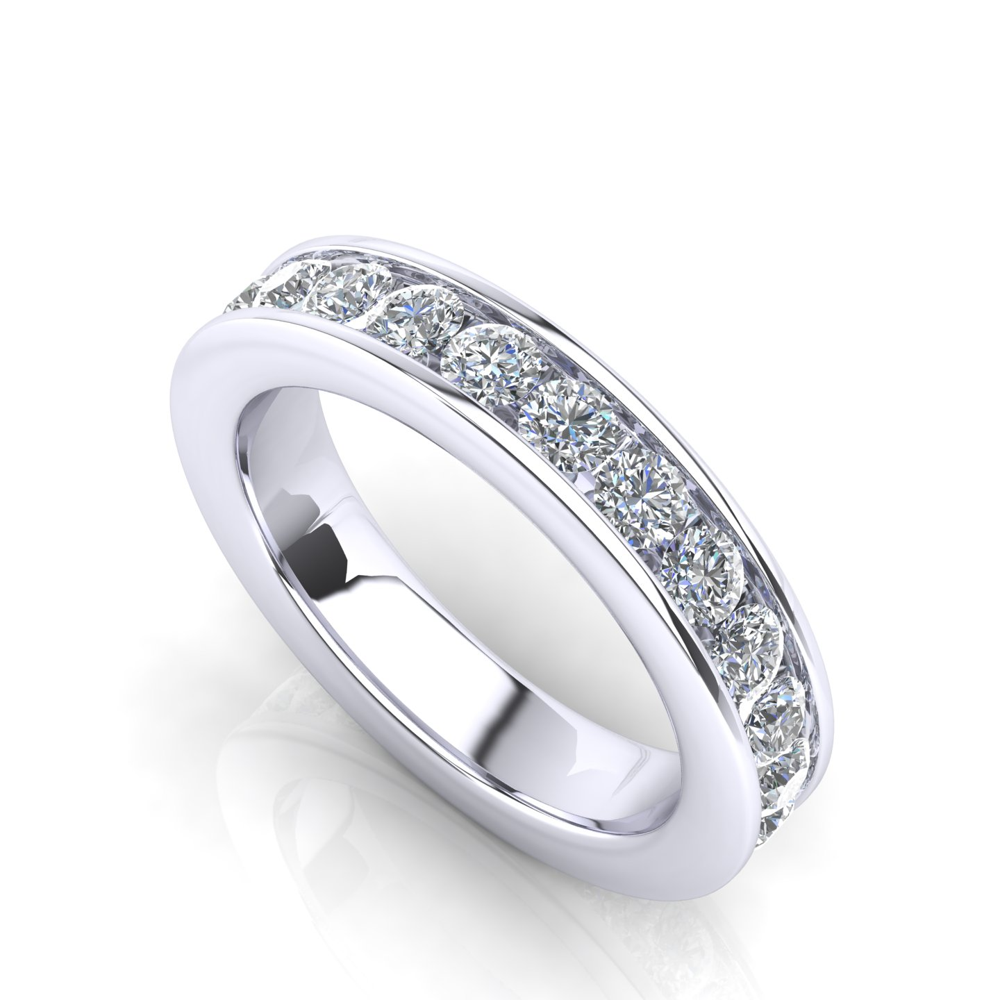 """Small Wedding Ring with Gemstone Settings """"Sunflower"""""""